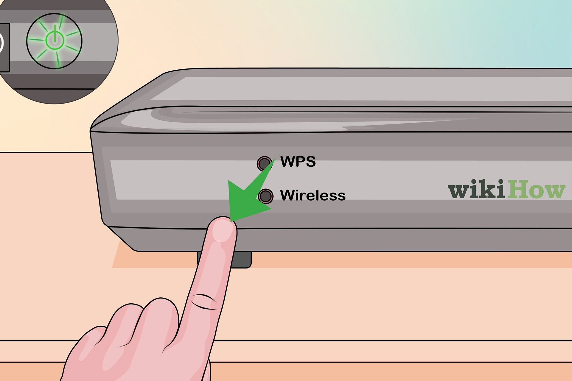how to find wps button on router