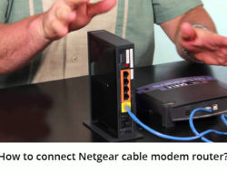 How to connect Netgear cable modem router?