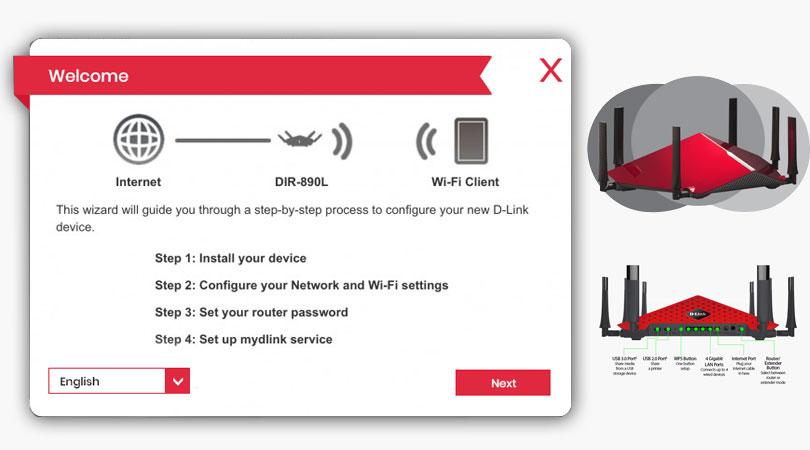 The D-Link DIR 890L Tri Band router